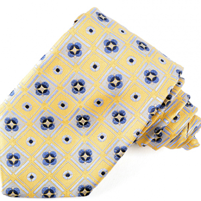 b18032-03 yellow navy maze blue